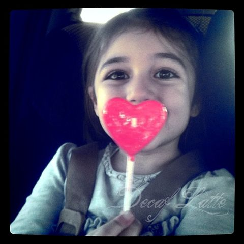 Derin with lollypop